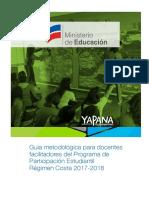 Gu+¡a metodol+¦gica para docentes facilitadores del  PPE. R+®gimen Costa 2017-2018