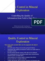 Quality Control in mineral exploration