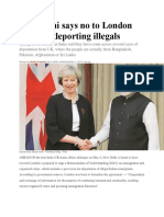 New Delhi Says No to London MoU on Deporting