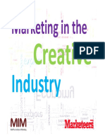 marketing in the creative industry