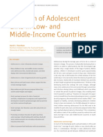 Nutrition of Adolescent Girls in Low and Middle Income Countries
