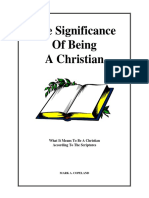 Significance of Being a Christian