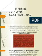Kasus Fraud Indonesia Gayus
