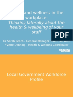 HR Conference 2015 - Health and Wellness in the Workplace - GMHBA