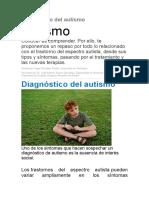 Diagnóstico Del Autismo
