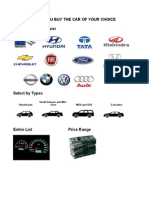 Guide to help you Buy the Car of Your Choice (India)