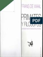 Frans de Waal-Primates y Filosofos