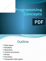3 - Basic Programming Concepts