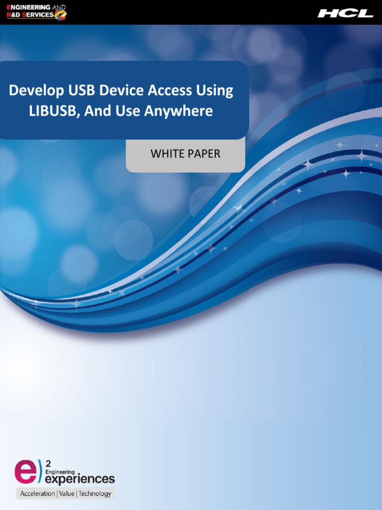 Develop Usb Device Access Once Using Libusb - Use Any Where