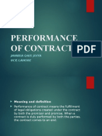 5 Performance of Contract (1)