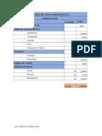 Costo, Anteproyecto y Proyecto