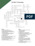 i Gcse 74 Crossword Particles