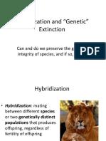 29. Hybridization and Genetic Extinction 1