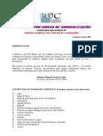 PADRÃO PUC MINAS DE NORMALIZAÇÃO