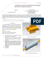 A Review on Design, Development & Testing of Double Pipe Heat Exchanger With Heat Transfer Enhancement Liners