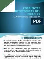 Corrientes arquitectonicas del Siglo XX