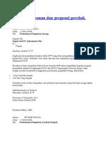 Surat Permohonan Dan Proposal Gerobak Sampah