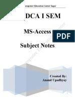 PGDCA MS Access All Units