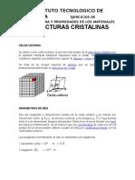 LECTURA 2.4.1 Estructuras Cristalinas