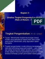 Bagian 3 - Analisa Pengembalian Modal