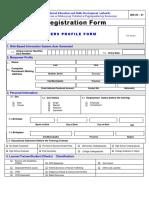 Registration Form MIS 03 01 Trainees Profile Form
