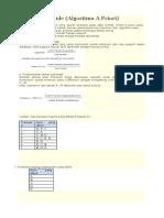 Cara Perhitungan Manual Algoritma Apriori