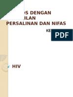 HIV Pada Kehamilan, Persalinan Dan Nifas