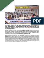 Sertifikasi ISO 17025 Bergaransi Uang Kembali | Wa +62 857 1027 2813