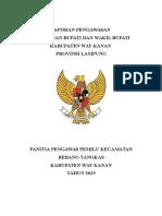 Laporan Pengawasan Panwascam 2015