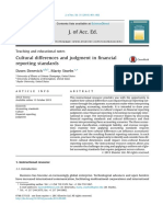 Cultural Differences and Judgment in Financial Reporting Standards 2013 Journal of Accounting Education