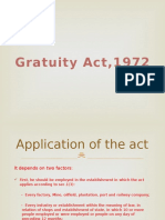 Payment of Gratuity Act 1972