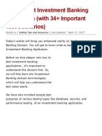 How to Test Investment Banking Application (with 34+ Important Test Scenarios)
