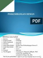 1. Perkembangan Hewan-Kontrak Pembelajaran 2014