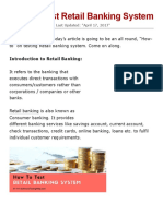 How to Test Retail Banking System