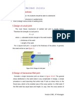 Design of Welded Joints