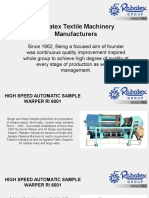 High Speed Automatic Sample Warper RI 6001 - By Rabatex Industries
