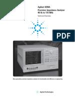 Agilent 4294A - Technical Overview