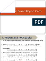 Employer Brand Report Card