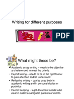 Writing for Different Purposes-1