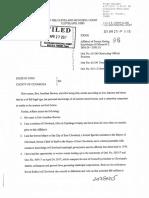 Affidavit seeking the arrest and prosecution of Council President Kevin Kelley