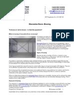 Mezzanine Floors Bracing