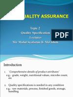 subjek Quality assurance