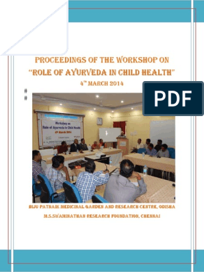 25 ROLE OF AYURVEDA IN CHILD HEALTH pdf | Alternative