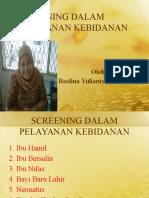 Pertemuan 9 Screening Dalam Pelayanan Kebidanan