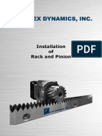 Installatin of Rack and Pinion
