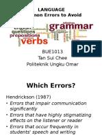 BUE 1013 - Language