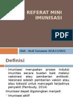 Referat Mini - Imunisasi