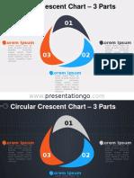 Circular Crescent Diagram 3Parts PGo