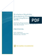 Gensby Workplace Disabiltiy Protocol