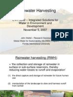 Rainwater Harvesting - Global Water for Sustainability